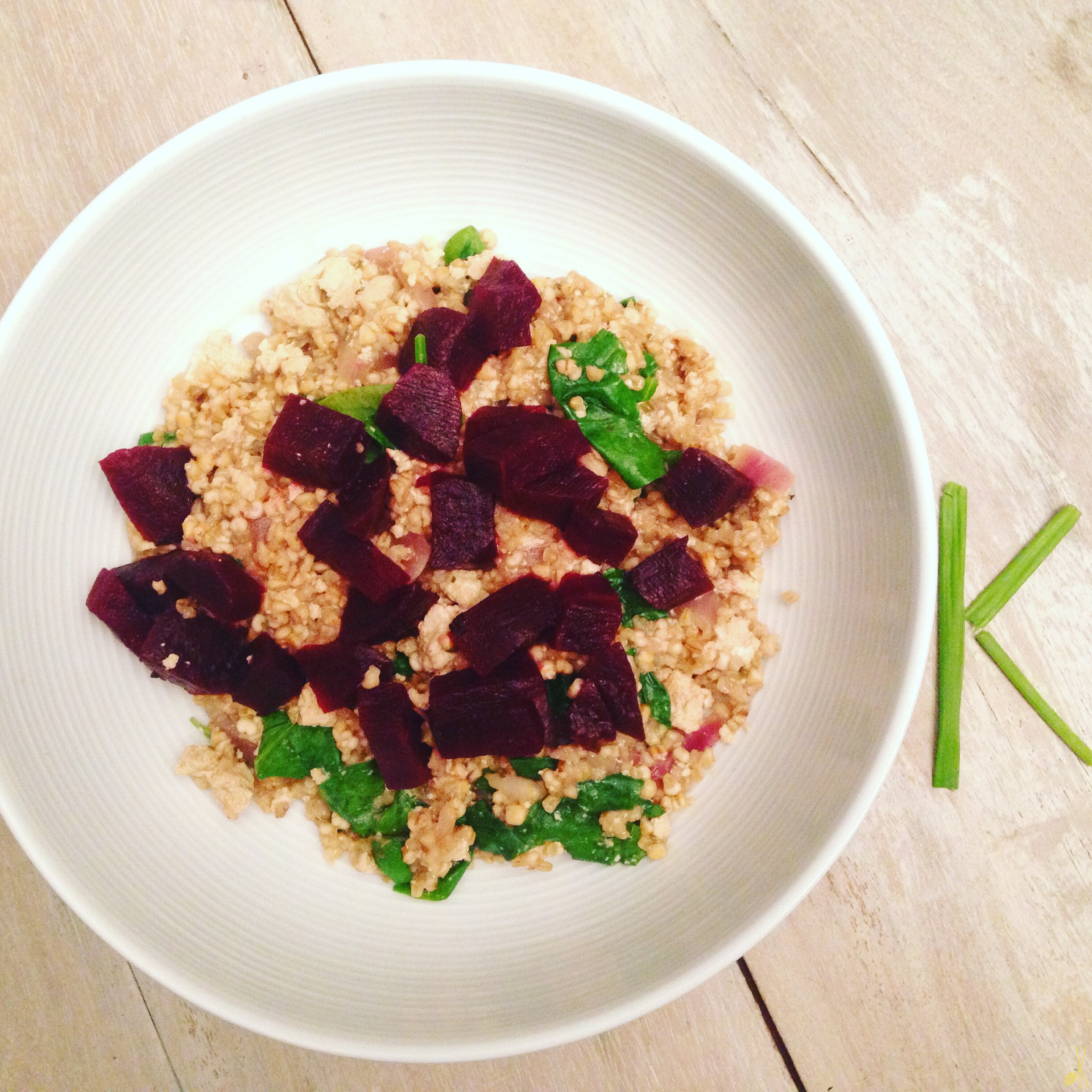 Riceless risotto with beets
